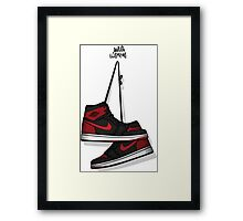 AIR JORDAN 1 RETRO HIGH OG Framed Print