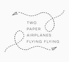 Two paper airplanes flying flying Kids Clothes
