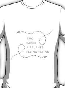 Two paper airplanes flying flying T-Shirt