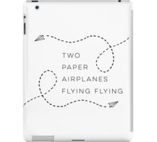 Two paper airplanes flying flying iPad Case/Skin