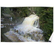 Misty spring falls, Victoria Park, Truro, NS Poster