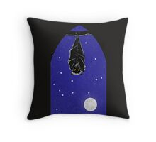 Bat in the Window Throw Pillow