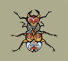 Totem Scarab 2 Tablet and phone covers by sarahstoneart
