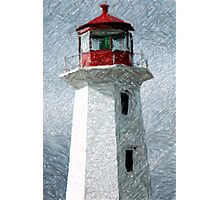 Lighthouse At Peggy's Cove Photographic Print