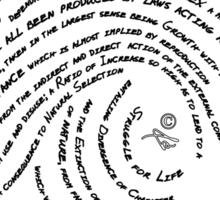 Darwin's Fingerprint by Tai's Tees Sticker