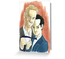 Careful with the Silk Greeting Card