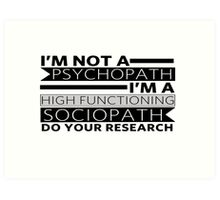 Do your research Art Print