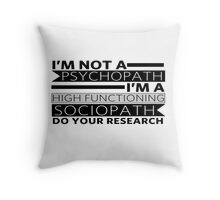 Do your research Throw Pillow