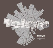 Tokyo Map by UrbanizedShirts