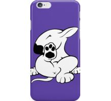 English Bull Terrier Kicking Back  iPhone Case/Skin