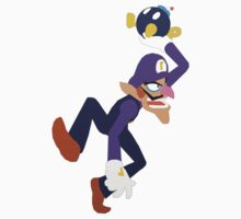 Waluigi Throwing a Bob-omb by Violentsofa