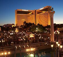 The Mirage in Vegas by Night by judygal