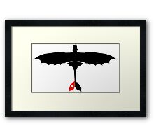 How to Train Your Dragon - Night Fury - Toothless Silhouette Framed Print