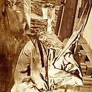 Fantasy Portrait Sepia Study No 32. by - nawroski -