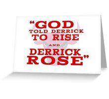 Derrick Rose Chicago Bulls NBA Greeting Card