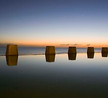 Coogee Beach Baths Sunrise by Bradley Ede