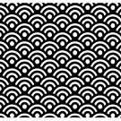 Seigaiha b-w Mug by © Kira Bodensted