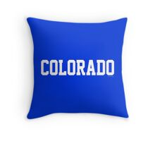 Colorado Jersey White Throw Pillow