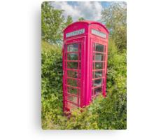 Great British Red Phone Box Canvas Print