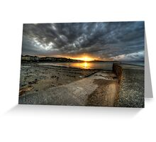 Sunrise at Criccieth Greeting Card