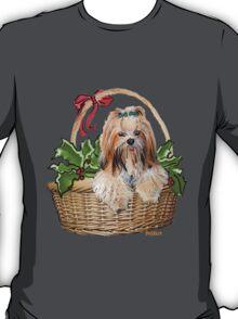 Lhasa in Christmas basket T-Shirt