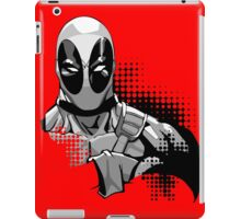 deadpool in black and white iPad Case/Skin