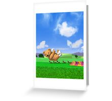 Teddy's Big Day Out - Vertica Greeting Card