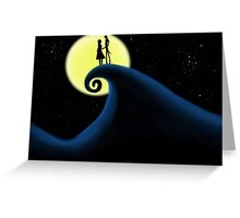 Jack and Sally, Nightmare before christmas  Greeting Card
