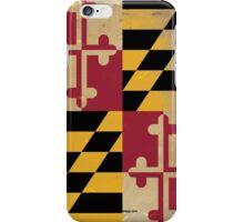 Maryland State Flag VINTAGE iPhone Case/Skin