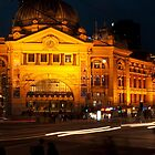 Flinders Street Station, Melbourne by DavidsArt