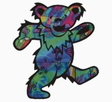 Grateful Dead Dancing Bear Trippy by Budnick3000