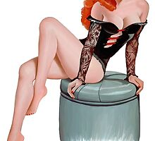 Vintage Pin up Girl - 1940 by georgatos