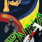 Ayrton Senna Retro Race poster by SFDesignstudio