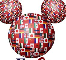 Epcot flags around the world by Emily2015