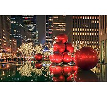 Red Bubbles Photographic Print