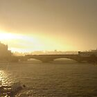London Sunny Stormy Panorama by Nigel Plant
