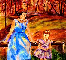 Mother and Daughter in the Park by hickerson