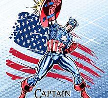 Captain America - Marvel Cartoon Super Hero by Everett Day
