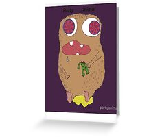 party animal (illution eyes) Greeting Card