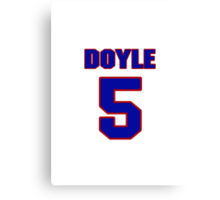 National baseball player Denny Doyle jersey 5 Canvas Print