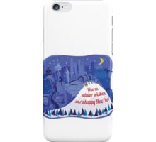 Seattle Holiday Card iPhone Case/Skin