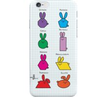 GeoBunnies Lineup iPhone Case/Skin