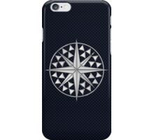 Chrome Style Nautical Compass Star iPhone Case/Skin