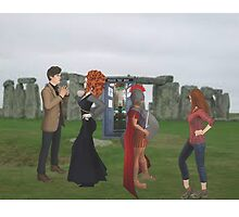 dr who and friends at stone henge by LokiLaufeysen