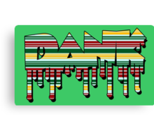 Dank - Rasta Drips Canvas Print