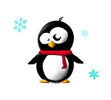 Holiday penguin by Bbeezle