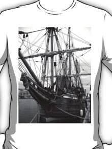 Old Sailing Ship BW T-Shirt