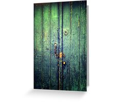 Blue Door In Avanos Greeting Card