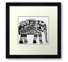 You're Irrelephant Framed Print