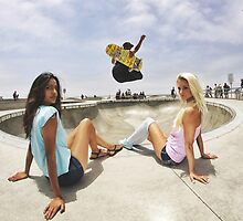Two Girls One Skater by strain